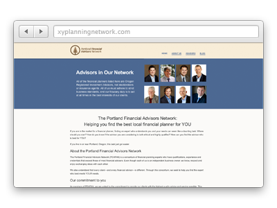 Portland Financial Advisors Network website